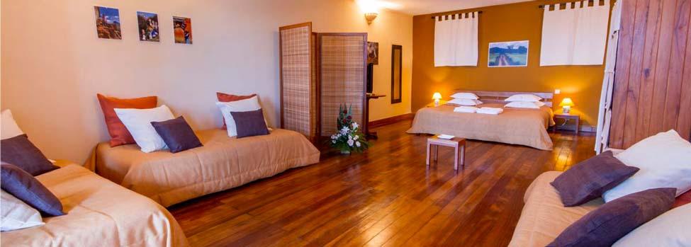 Chambre d'un hôtel à Antananarivo Les 3 Métis